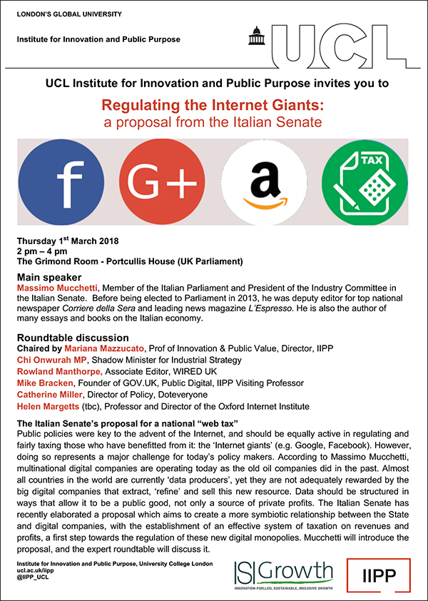 Regulating the Internet Giants_A proposal from the Italian Parliament FLYER
